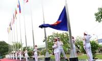 Upacara bendera dan peringatan ulang tahun ke-20 masuknya Vietnam ke dalam ASEAN