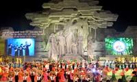 Pembukaan Festival Nasional ke-5 tentang seni lagu rakyat Then, gitar musik Tinh etnis-etnis minoritas Tay, Nung dan Thai