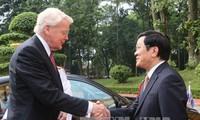 Presiden Republik Islandia, Olafur Ragnar Grimsson mengakhiri kunjungan di Vietnam
