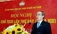 Meningkatkan peranan dan posisi Front Tanah Air Vietnam dalam sistim politik dan kehidupan masyarakat