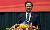 Mantan PM Nguyen Tan Dung melakukan kontak dengan para pemilih kota Hai Phong
