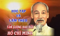Agar fikiran, moral dan gaya Ho Chi Minh menjadi fundasi  spirituil yang mantap dalam kehidupan masyarakat