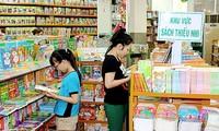 Pasar buku musim panas untuk anak-anak menjadi ramai