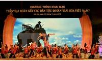 """Membuka Pekan """"Persatuan  besar berbagai etnis- Pusaka budaya Vietnam"""""""
