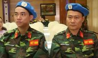 Bertukar pengalaman tentang partisipasi dalam penjagaan perdamaian PBB