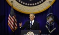 Presiden B.Obama menegaskan kepercayaannya pada hari depan AS