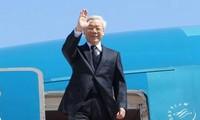 Sekjen Nguyen Phu Trong berangkat melakukan kunjungan resmi di Republik Rakyat Tiongkok