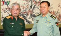 Wakil Ketua Komisi Militer Pusat Tiongkok menerima Letnan Jenderal Nguyen Chi Vinh