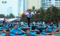 Aktivitas menyambut Hari Yoga Internasional ke-3