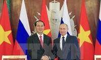 Opini umum Rusia memberikan penilaian positif tentang kunjungan Presiden Tran Dai Quang