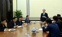 Presiden Vietnam, Tran Dai Quang melakukan temu kerja dengan Dewan Konsultasi Bisnis APEC 2017