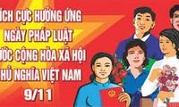 Hari Hukum Vietnam turut membangun Pemerintah yang bersih, lurus, bertindak dan melayani Tanah Air dan rakyat