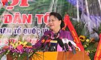 Ketua MN Nguyen Thi Kim Ngan menghadiri Hari Persatuan Besar Nasional di Provinsi Hoa Binh