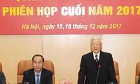 Sekjen Nguyen Phu Trong memimpin Konferensi Komisi Partai Militer Sentral