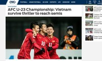 Tim sepak bola U23 Vietnam mendapat penilaian tinggi dari media massa internasional