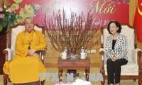 Kepala Departemen Penggerakan Massa Rakyat KS PKV Truong Thi Mai: Agama Buddha Vietnam selalu berjalan seperjalanan dengan bangsa