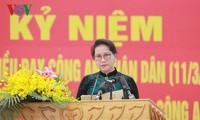 Para komandan dan prajurit Pasukan Keamanan Publik melaksanakan 6 ajaran Presiden Ho Chi Minh