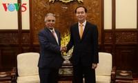 Presiden Tran Dai Quang menerima  Duta Besar Arab Saudari yang berpamitan