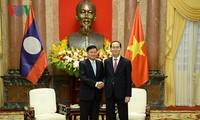 Presiden Tran Dai Quang menerima PM Laos, Thongloun Sisoulith