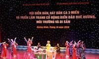 Membarui irama-irama lagu rakyat: Ditinjau dari festival memainkan instrumen musik dan menyanyikan lagu rakyat dari tiga penjuru Tanah Air