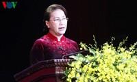 """Ketua MN Nguyen Thi Kim Ngan menghadiri acara penyampaian penghargaan pers """"Palu Arit Kuning"""" kali ke-3"""
