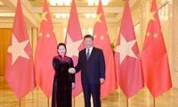 Ketua MN Nguyen Thi Kim Ngan melakukan pertemuan dengan Sekjen, Presiden Republik Rakyat Tiongkok, Xi Jinping