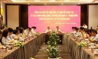 Kepala Departemen Ekonomi KS PKV, Nguyen Van Binh melakukan temu kerja dengan Provinsi Quang Ninh