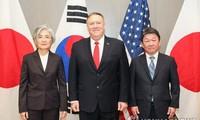 AS-Jepang-Republik Korea sepakat mendorong proses denuklirisasi Semenanjung Korea