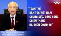 Seluruh bangsa Vietnam  bersatu padu mengalahkan  pandemi Covid-19