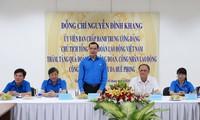 Konfederasi Serikat Pekerja Viet Nam menyemangati badan usaha dan kaum buruh Kota Ho Chi Minh