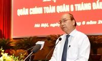 PM Nguyen Xuan Phuc memuji Komisi Partai Militer dan Kemhan dalam mencegah dan memberantas wabah Covid-19