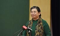Wakil Ketua Harian MN Viet Naam Tong Thi Phong melakukan kunjungan kerja di Univeritas Thai Nguyen
