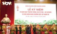 Memperingati ulang tahun ke-70 hari tradisi Koran Quan Doi Nhan Dan atau Tentara Rakyat Viet Nam