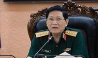 Menhan Ngo Xuan Lich Menerima Penasehat Keamanan Nasional AS