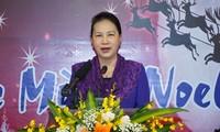 Pimpinan Partai Komunis dan Negara Viet Nam Mengucapkan Selamat Hari Natal dan Tahun Baru