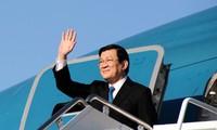 President Truong Tan Sang visits Russia, Czech Republic, and Azerbaijan