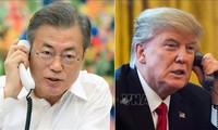 Trump informa al presidente surcoreano sobre el resultado de la segunda cumbre con Corea del Norte
