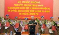 Otros siete combatientes vietnamitas asumen misiones de paz de la ONU