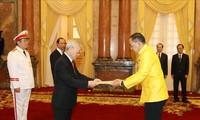 Presidente vietnamita destaca empeño de embajadores extranjeros