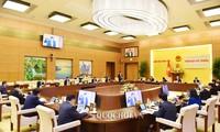 Reunión extraordinaria del Comité Permanente del Parlamento vietnamita sobre Covid-19