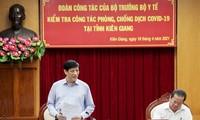 Titular de Salud Pública orienta la respuesta anticovid-19 en Kien Giang