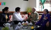 サン主席、DBP作戦の復員軍人の元を訪れる