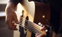 穏やかなギターの演奏
