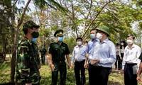 キエンザン省 国境地帯で新型コロナ予防対策を強化