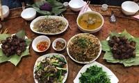 タイ族の水牛から作られる料理