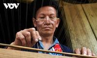 ザオ族の伝統的な紙作りの用具「簀桁(すけた)」