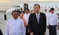 Sekjen PBB Ban Ki-moon  berkunjung di Myanmar