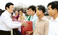 Presiden Vietnam, Truong Tan Sang melakukan kunjungan kerja di provinsi Quang Nam.
