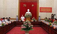 Ketua MN Vietnam Nguyen Sinh Hung  melakukan temu kerja dengan Komite Partai Keamanan Publik Sentral