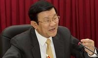 Presiden Vietnam Truong Tan Sang mengirim surat kepada para prapemuda dan anak-anak sehubungan dengan Hari Raya Medio Musim Rontok -2013.